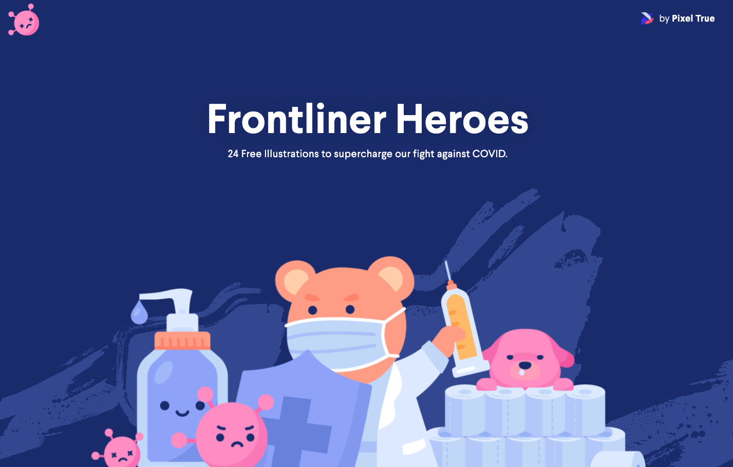 I made 24 high-quality Covid illustrations. Free for commercial and personal use