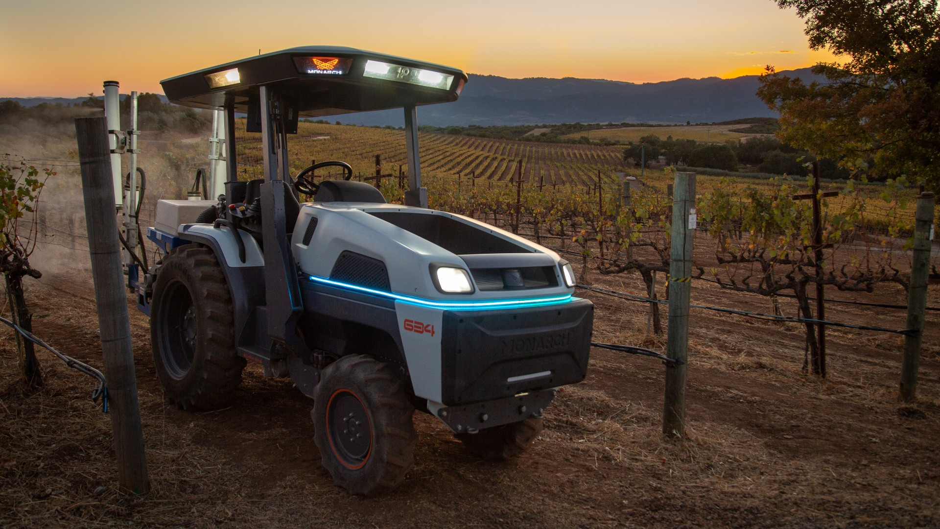 Electric Monarch tractor can plow a field without a driver and run for ten hours