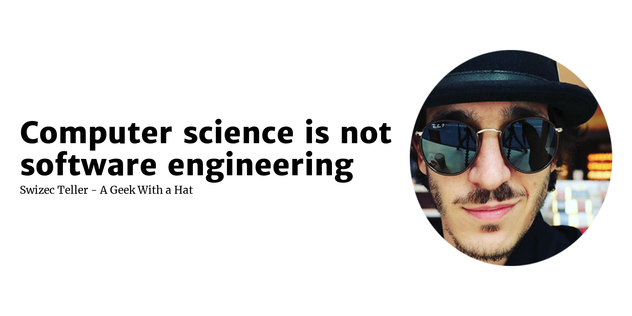 Computer science is not software engineering