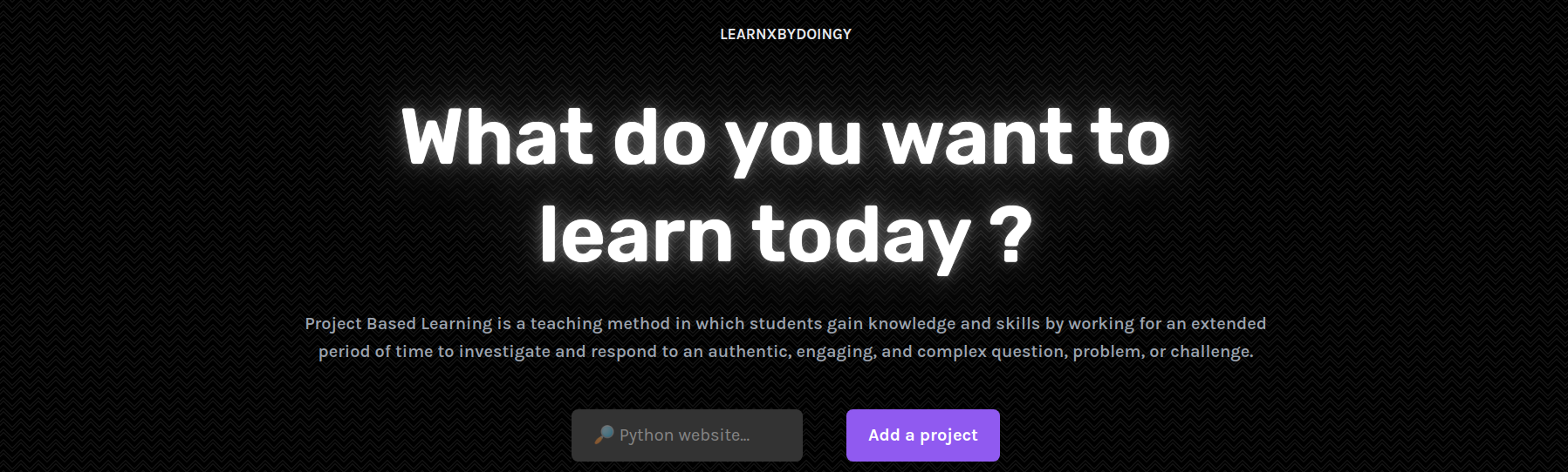 Learn X by Doing Y – A project-based learning search engine